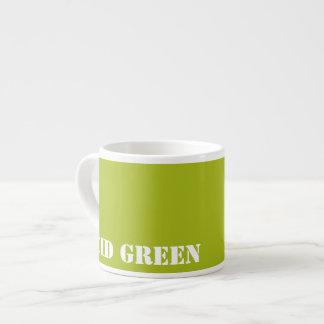 Acid green espresso cup