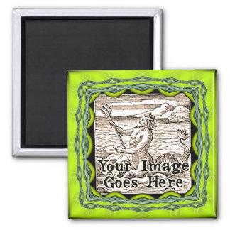 Acid Green Fantasy Frame Template Magnet
