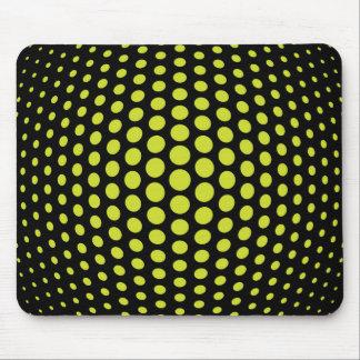 Acid Green Fish Eye Polka Dots Pattern Mouse Pad