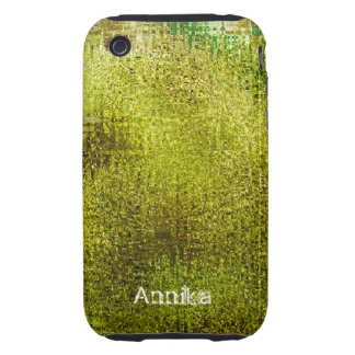 Acid Green Grunge Personalized iPhone 3 Case
