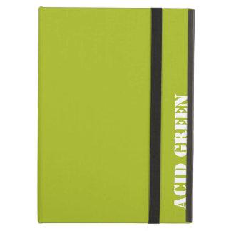 Acid green iPad air cover