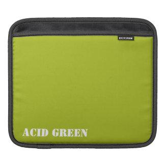 Acid green iPad sleeves