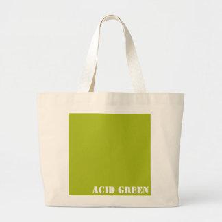 Acid green large tote bag