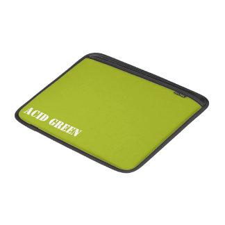 Acid green MacBook air sleeves