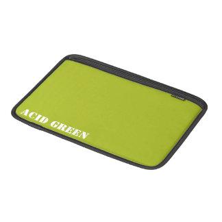 Acid green MacBook sleeve