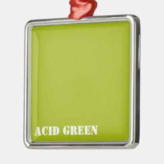 Acid green metal ornament