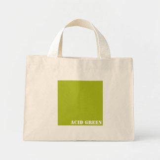 Acid green mini tote bag