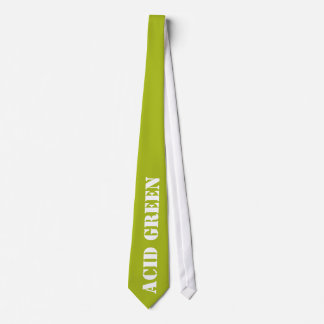 Acid green neck tie