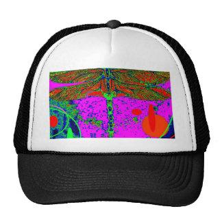 Acid Green & Purple Goth  Dragonfly by Sharles Trucker Hat