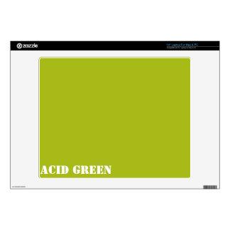 Acid green laptop decal