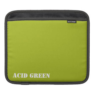 Acid green sleeve for iPads