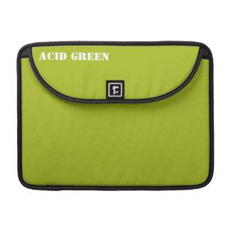 Acid green sleeve for MacBooks