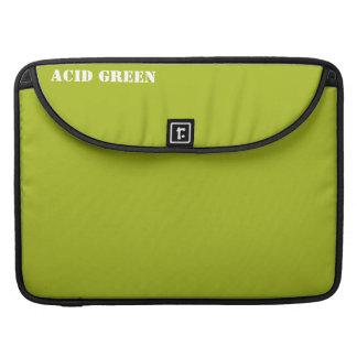Acid green sleeves for MacBook pro