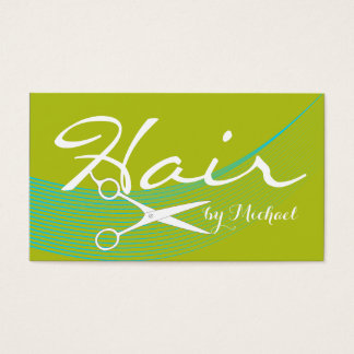 Acid Green Solid Hair Stylist Appointment #3 Business Card