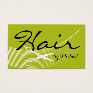 Acid Green Solid Hair Stylist Appointment Business Card