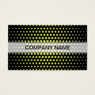 Acid Green Techno Dots Modern Black Business Card