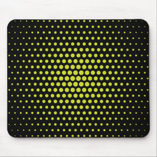 Acid Green Techno Dots Modern Black Mouse Pad