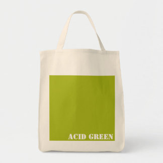 Acid green tote bag
