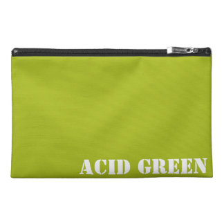 Acid green travel accessory bag