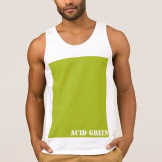 Acid green tank tops