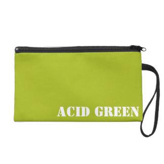 Acid green wristlet