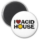Acid House 2 Inch Round Magnet