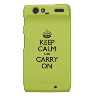 Acid Keep Calm And Carry On Motorola Droid RAZR Covers
