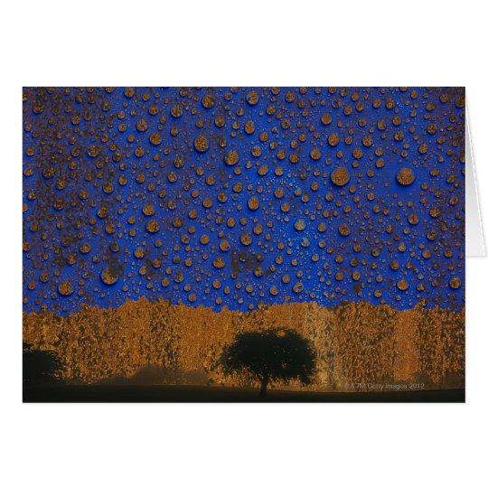 Acid rain & environmental pollution card