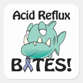 Acid Reflux BITES Square Sticker