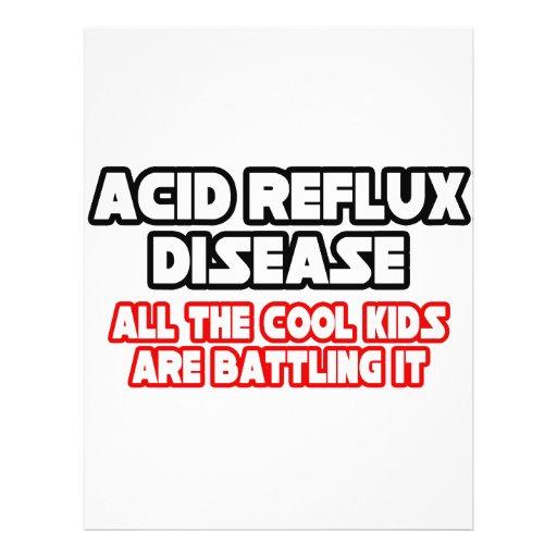 "Acid Reflux Disease...Cool Kids 8.5"" X 11"" Flyer"