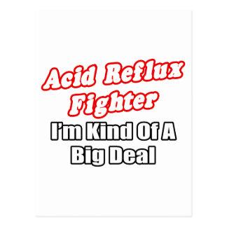 Acid Reflux Fighter...Big Deal Postcard