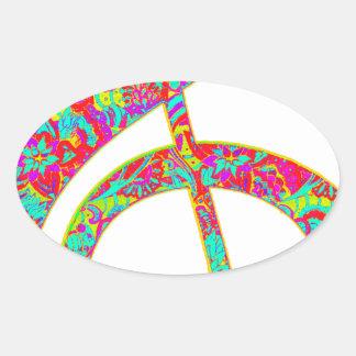 acid sounds oval sticker