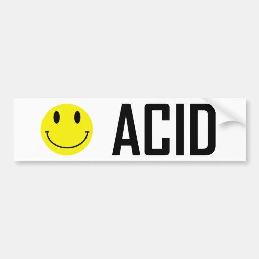 Acid Sticker Bumper Sticker