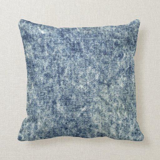 Acid Wash Blue Jean Throw Pillow Zazzle