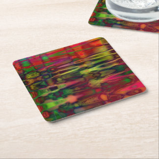 Acid Water Square Paper Coaster