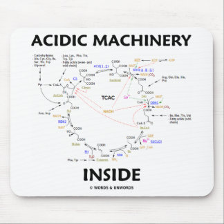 Acidic Machinery Inside (Krebs Citric Acid Cycle) Mouse Pad