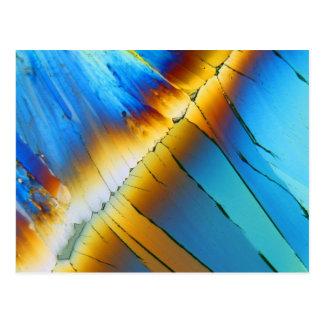 Ácido cítrico debajo del microscopio postales