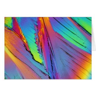 Ácido cítrico debajo del microscopio tarjeta de felicitación