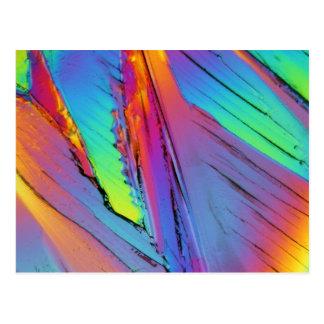 Ácido cítrico debajo del microscopio tarjetas postales