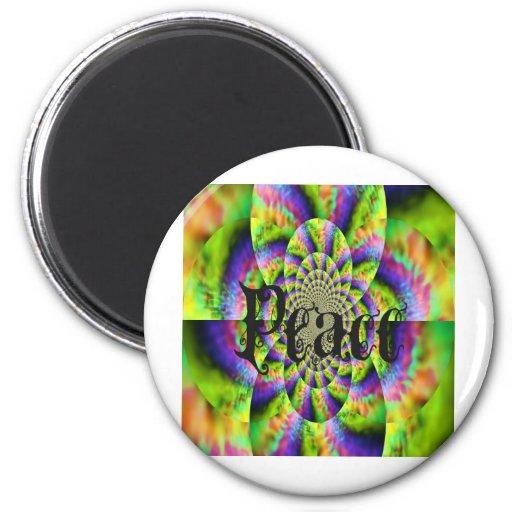 ácido colorido con paz imán