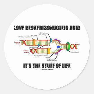 Ácido desoxirribonucléico del amor es la materia pegatina redonda