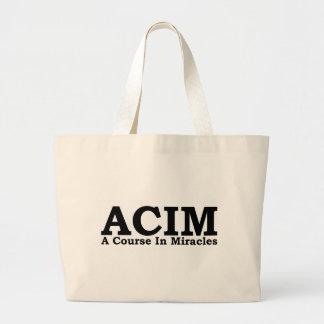 ACIM un curso en camiseta de los milagros Bolsas Lienzo