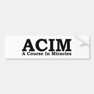ACIM un curso en camiseta de los milagros Pegatina Para Auto