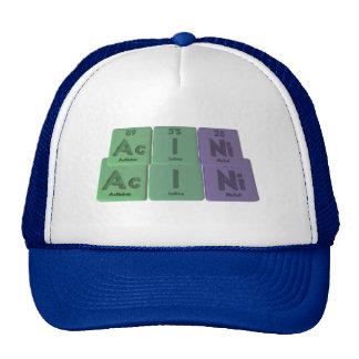 Acini-Ac-I-Ni-Actinium-Iodine-Nickel Trucker Hat