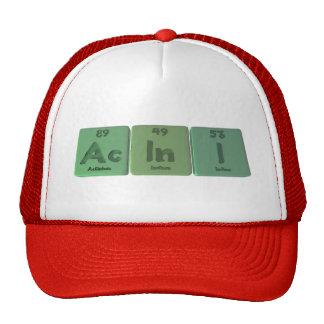 Acini-Ac-In-I-Actinium-Indium-Iodine Trucker Hat