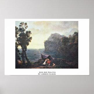 Acis And Galatea By Lorrain Claude Print