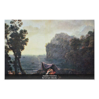 Acis And Galatea By Lorrain Claude Poster