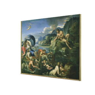 Acis and Galetea Hiding from the Giant Polyphemus Canvas Print