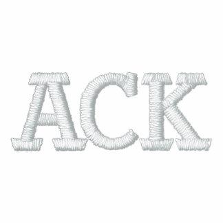 ACK EMBROIDERED HOODED SWEATSHIRT
