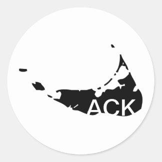 ACK Nantucket Classic Round Sticker